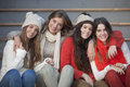 Fashion Winter Teens With Beautiful Smiles Stock Images - 65841664