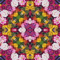 Flower Background. Effect Of A Kaleidoscope. Stock Image - 65849641