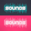 Vector Music Stylish Background With Equalizer. Cool Tshirt Design Royalty Free Stock Image - 65850876
