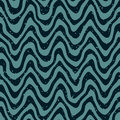Vector Seamless Hand Drawn Wavy Distorted Lines Retro Pattern Royalty Free Stock Photography - 65852877