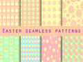 Easter. Set Of Seamless Patterns. Easter Bunny And Easter Egg. T Stock Images - 65858234