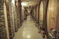 Old Wine Barrels In The Wine Cellar Stock Images - 65858484