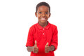 Portrait Of A Cute African American Little Boy Making Thumbs Up Stock Photo - 65865270