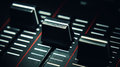 Three Sliders Of A Modern Midi Controller Royalty Free Stock Image - 65878126