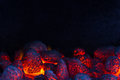 Glowing Coal On A Barbecue Royalty Free Stock Photography - 65883807
