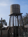 Wooden Water Tower Royalty Free Stock Photography - 65900277