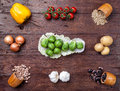 Fresh And Healthy Organic Vegetables And Food Ingredients Royalty Free Stock Photography - 65910167