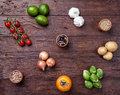 Fresh And Healthy Organic Vegetables And Food Ingredients Stock Photos - 65910263