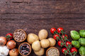 Fresh And Healthy Organic Vegetables And Food Ingredients Stock Photos - 65910623