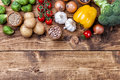 Fresh And Healthy Organic Vegetables And Food Ingredients Stock Photography - 65910822