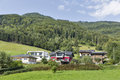 Residential Houses In Austrian Alps Stock Photo - 65916020