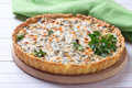 Appetizing Quiche With Ricotta Cheese And Herbs Royalty Free Stock Photography - 65919497