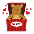 Teddy Bear In A Present Box Royalty Free Stock Photography - 65937607