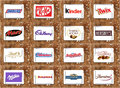 Top Famous Chocolate Brands And Logos Royalty Free Stock Photos - 65938908