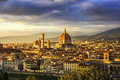Florence Or Firenze, Duomo Cathedral Landmark. Sunset View From Royalty Free Stock Photo - 65942015
