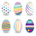 Easter Day  For Egg Isolated On Vector Design. Colorful Chevron Pattern For Eggs. Colorful Egg Isolated On White Background. Stock Photography - 65943922