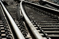 Train Track Switches Stock Image - 65954071
