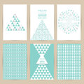 Vector Blue Set Of Vintage Pattern Background Banner Retro  Royalty Free Stock Photography - 65963157