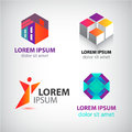 Vector Set Of Abstract Shapes, Logos, Icons Isolated. Royalty Free Stock Photos - 65964718