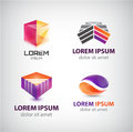 Vector Set Of Abstract Shapes, Logos, Icons Isolated. Royalty Free Stock Photography - 65964887