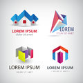 Vector Set Of Abstract Shapes, Logos, Icons Isolated. Stock Photo - 65964910