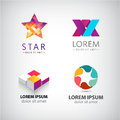 Vector Set Of Abstract Shapes, Logos, Icons Isolated. Stock Image - 65965181