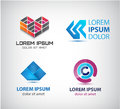 Vector Set Of Abstract Shapes, Logos, Icons Isolated. Stock Images - 65965194