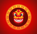 Lion Head Smile In Chinese New Year Stock Photo - 65979150