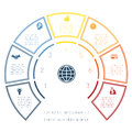 Semicircle Template From Infographic Seven Number Options Royalty Free Stock Images - 65991569