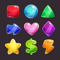 Colorful Glossy Shapes Icons Set Stock Photos - 65993153