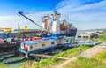Perseus Ship Moored To Shore In Galati Royalty Free Stock Photo - 65993335