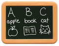 Child S Mini Chalkboard - A Is For Apple ... Royalty Free Stock Image - 667346