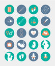 Pregnancy And Birth Icons Set Royalty Free Stock Photography - 66006257