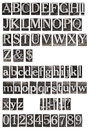 Old Metal Letters Alphabet Royalty Free Stock Photo - 66009555