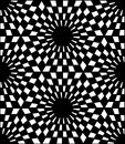 Vector Modern Seamless  Sacred Geometry Pattern Hexagon, Black And White Abstract Royalty Free Stock Photos - 66031588