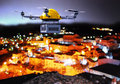 Drone Night Delivery Stock Photography - 66036872