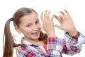 Funny Little Girl Making Faces Stock Images - 66039944