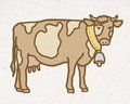 Natural Mountain Cow With Bell Stock Images - 66045184