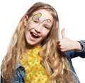 Girl With Face Painting Royalty Free Stock Photo - 66049605