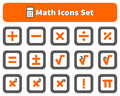 Math And Calculator Icons Set Royalty Free Stock Photography - 66051817
