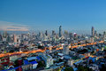 Bangkok City Skyline At Twilight View From High Rise Royalty Free Stock Photos - 66057578