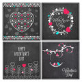 Greeting Card Set For Valentine S Day Celebration. Royalty Free Stock Photos - 66067558