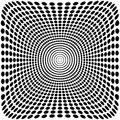 Vector Optical Illusion Zoom Black And White Background Royalty Free Stock Photo - 66069725