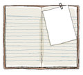 Book Vintage And Memo Notes With Paper Clip Background Stock Images - 66073524