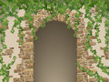 Arch Of Stones And Hanging Ivy Royalty Free Stock Photos - 66075518
