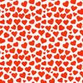 Watercolor Red Hearts Saint Valentine S Day Seamless Pattern Royalty Free Stock Photos - 66079598