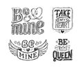 Hand Lettering Phrase For Valentines Day Poster Royalty Free Stock Photos - 66086868