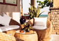Interior Of Relax Place With Sea View Outdoors Stock Photo - 66093870