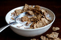 Wheat Bran Breakfast Cereal In Bowl. Stock Image - 66094871