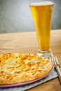 Pizza And Beer Royalty Free Stock Photography - 6611937